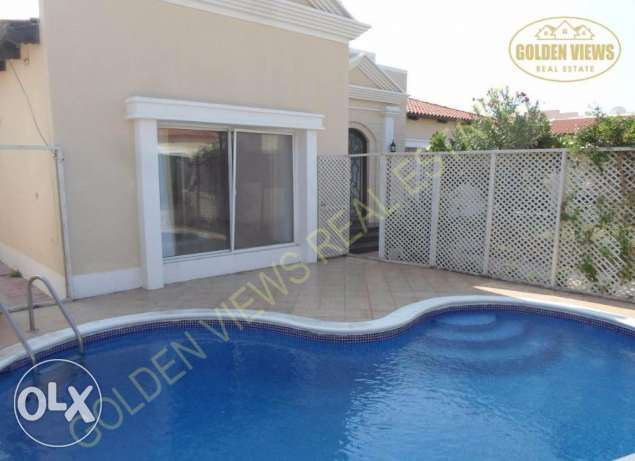 3 Bedroom semi furnished villa with large private garden,pool