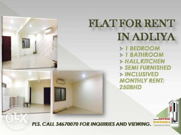 Flat for rent in Adliyah