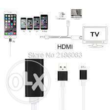HDTV Cable 1800MM(for Micro Smart Phone& iPhone/ipad with Audio)2 in 1