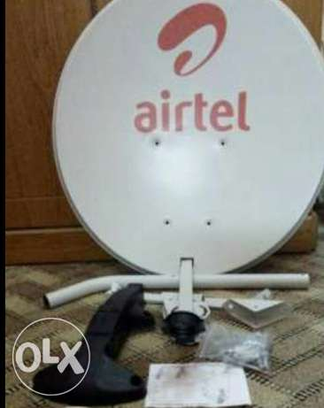 Airtel receiver with dish cable,