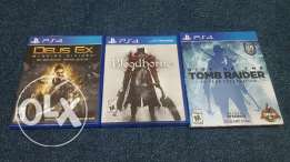 Tomb Raider, Deus Ex & Bloodborne for PS4