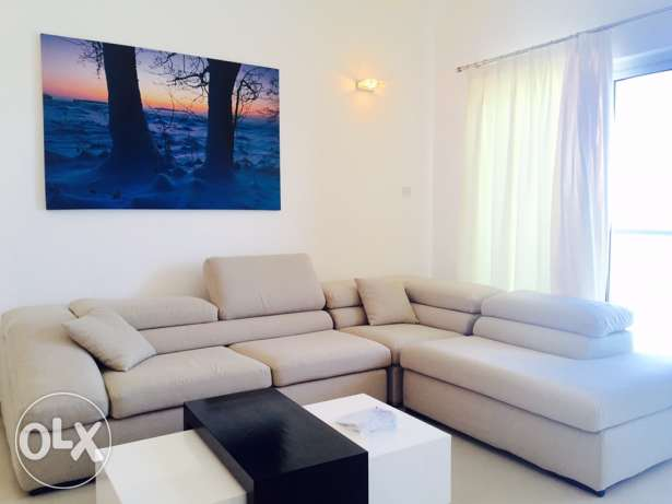 Two Bedrooms in Amwaj .Full sea view,pets allowed. Brand new Furniture