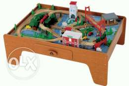 wooden train table HUGE