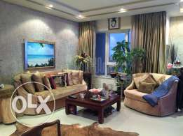 Fully furnished luxury apartment in a high rise tower.