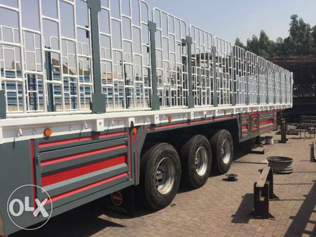 brand new 3 axle flat bed trailers with warranty of chassis, tyre axle