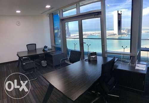 Full fitted office at BAH WORLD TRADE CEN w/amazing SeaView BD.750Inc