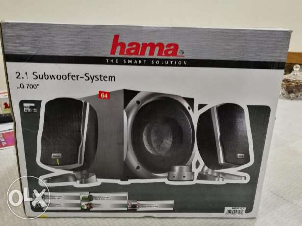 Brand New Hama Subwoofer system.for sale for.only 28 bd plzzz contact