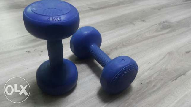 Dumbell dumbbells weights, 4kg each, 1 pair
