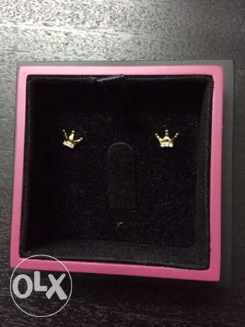 Gold Earrings (Crown) for Sale