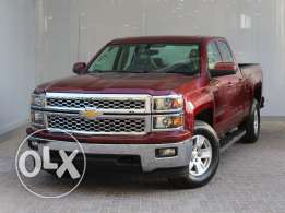 chevrolet Silverado 1500 2WD DBL 5.3L LT maroon 2015 For Sale
