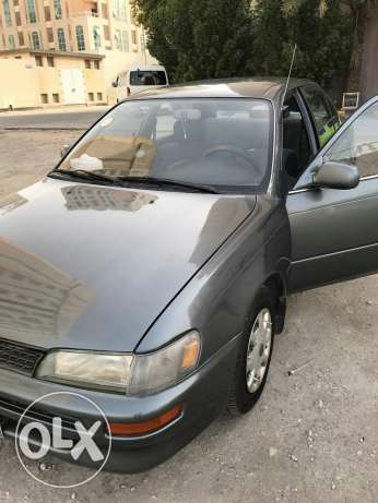Toyota Corolla excellent condition passing till Jan 2018