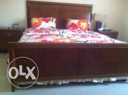 American king size Bed n Night Stands