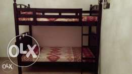 rong Wooden Bunk Bed with 2 mattress in Excellent Condition