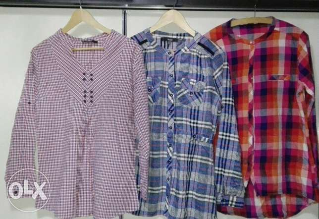9 Formal and informal blouses (size 42/44)