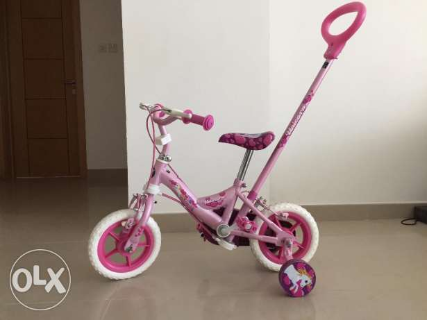 Girl's Bicycle (Pink) with directional bar for parents, Brand Avigo
