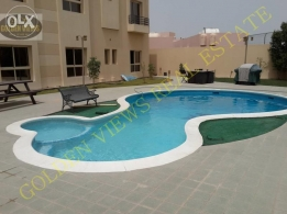 4 BR semi furnished modern villa with garden,pool,gym,play area