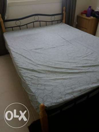 Wrought iron queen size bed for sale with 8 inch orthopedic mattress