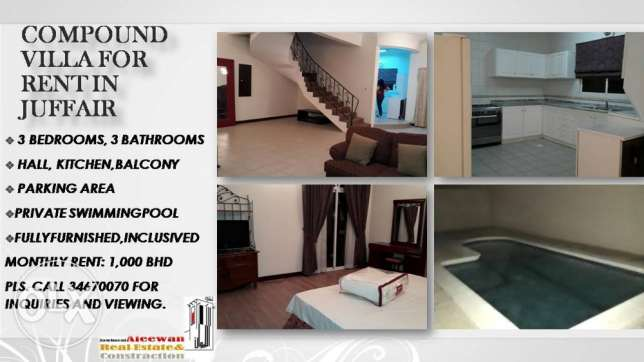 Compound Villa for rent in Juffair