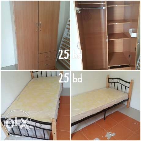 Sale cupboard, bed, kids study table and baby highchair