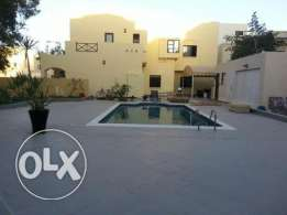 semi furnished private villa with pool saar