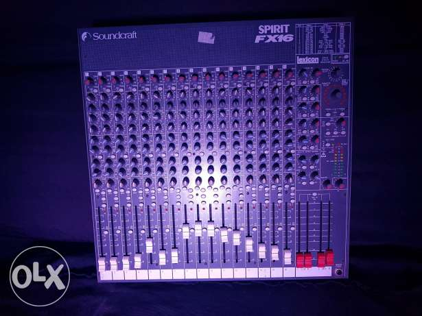 Soundcraft Spirit FX 16 with Lexicon Effects