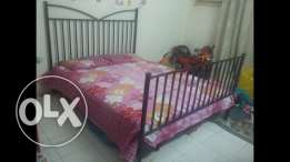 Kingsize iron wrought bed for urgent sell.