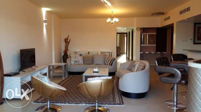 2 bedrooms apartment with modern furniture and large balcony