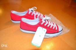 Original Converse All Star Shoes/Coral Color/Brand New