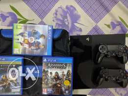 Ps4 with games , plus subscription and bag