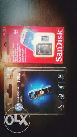 128 gb flash memory and 64 gb micro sd card