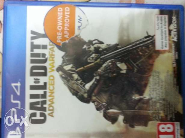 Ps4 game call of duty advance warefare