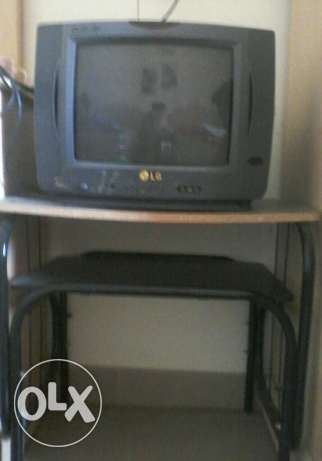 LG tv with tv stand for sale
