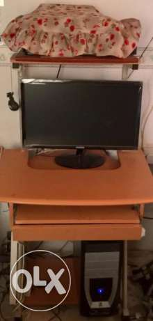 Desktop Computer cum Printer Table w/ FREE 5 slots Power Extension