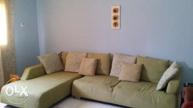 Reduced price sofa set- seats 7 to 8 people.