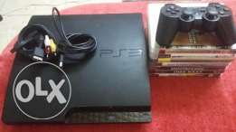 Ps3 320gb original wires original controller with 7games
