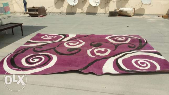 Purple with white and black circle carpet for sale