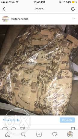 military camouflage bag