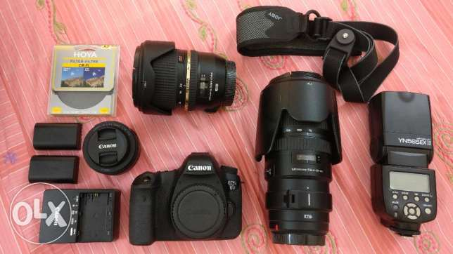 Canon 6d with professional kit