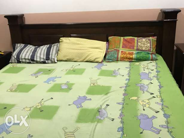 Wooden king size Bed for sale