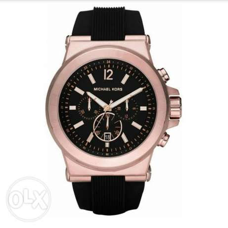 Michael Kors rose gold rubber band unisex original watch for sale