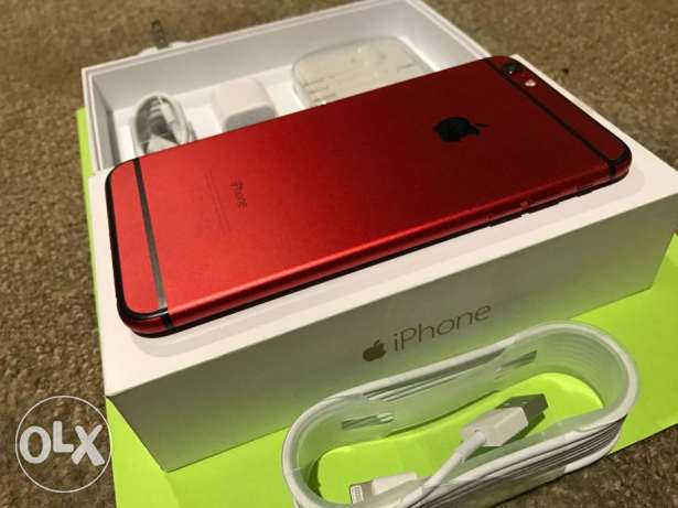 NEW Custom APPLE RED Apple iPhone 6 PLUS - 128GB - Fast Ship! Factory