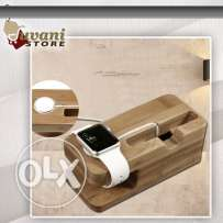 iWatch & Phones Wood Stand Dock