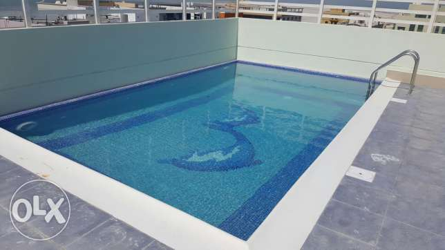 For rent brand new Two BR flat / Gym + pool البسيتين -  7