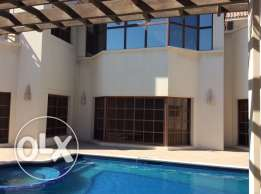 Spacious 4 bedroom semi furnished compound villa with elevator