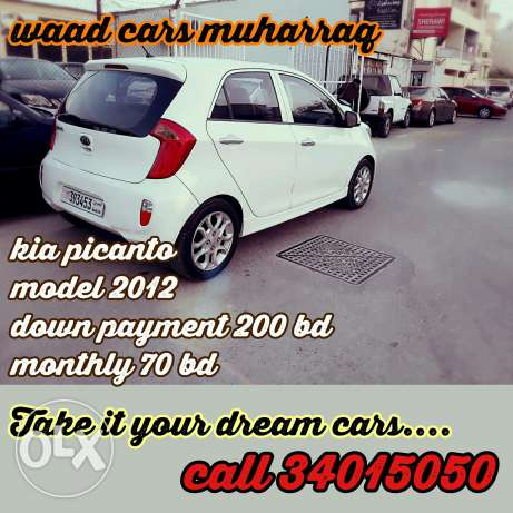 Kia picanto 2012 model full option for sale . Monthly installment s