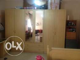 Urgent for sale Cuboard , Split AC 1.5 Ton, Dressing Table
