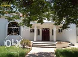 4 Bedroom semi furnished villa with large garden and pool