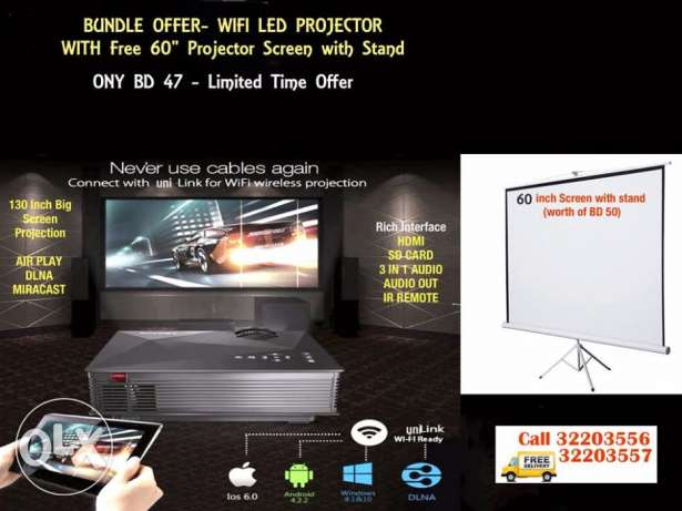 wifi led projector led projector wifi / miracast / dlna compatibile