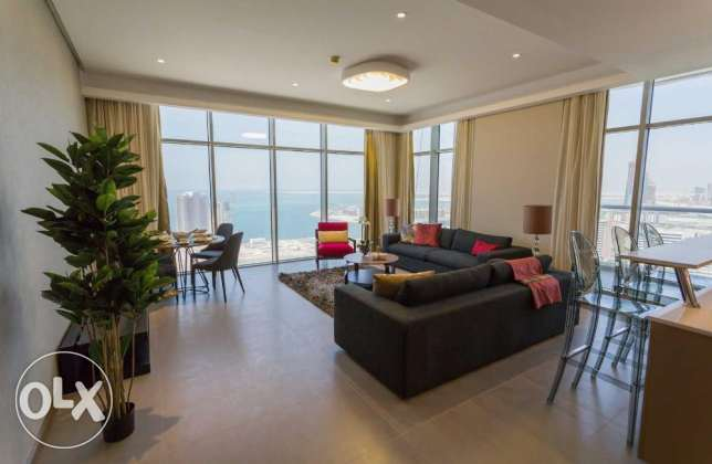 Sea view,2 bedrooms apartment for sale in Seef area