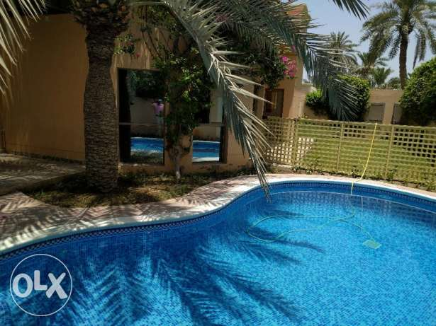 4 Bedroom semi furnished villa with private pool & garden - inclusive جانبية -  1